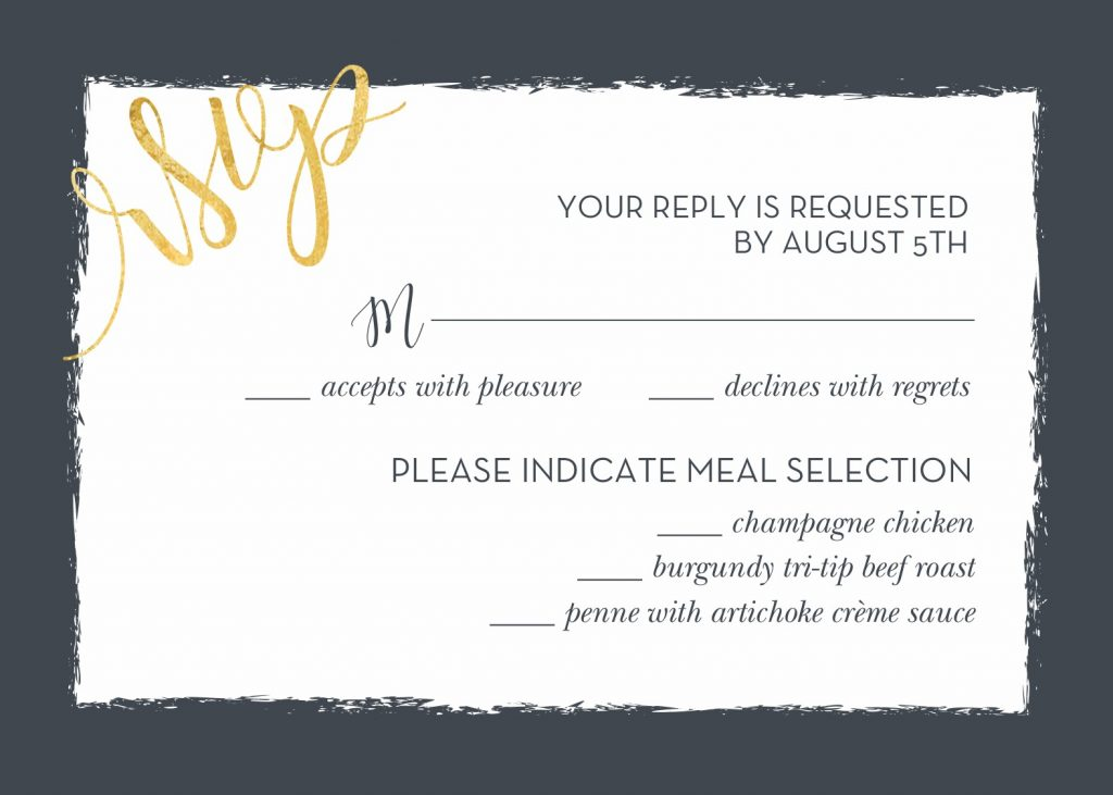 Wedding RSVP Wording and Card Etiquette Shutterfly - response card examples