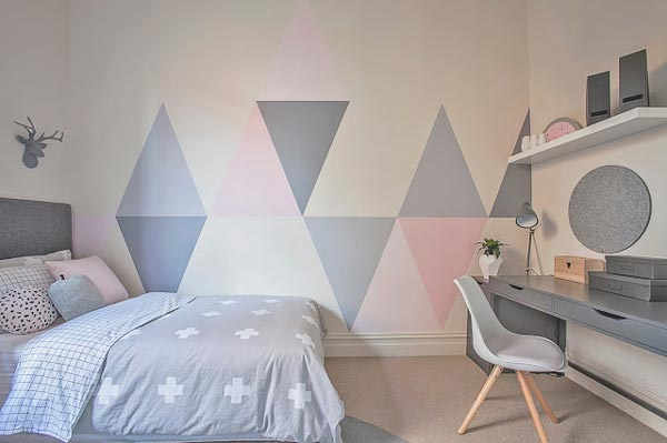 Teenage Girl Room White And Gold Polka Dot Wallpaper 75 Delightful Girls Bedroom Ideas Shutterfly