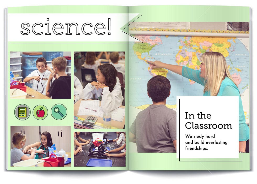 50 Creative Yearbook Layouts for K - 12 Shutterfly