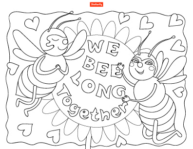 15 Valentine\u0027s Day Coloring Pages for Kids Shutterfly
