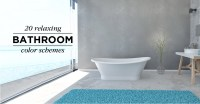 20 Relaxing Bathroom Color Schemes