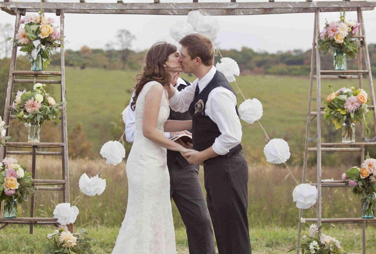 Deluxe Tips Shutterfly Small Wedding Ideas Michigan Small Wedding Ideas California Bride Groom Kiss Backyard Wedding Intimate Small Wedding Ideas ideas Small Wedding Ideas