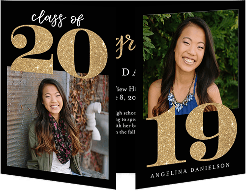 formal high school graduation announcement