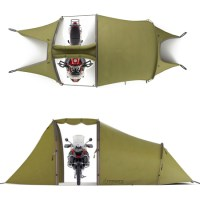 Tent Camping with Motorcycle Garage - Bing images
