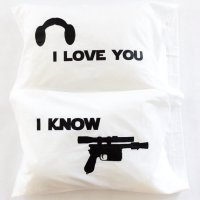 Star Wars I Love You I Know Pillowcases