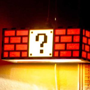 Super Mario Block Lamp