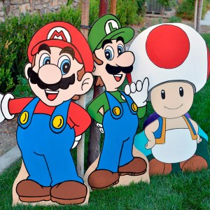 Super Mario Cutouts Shut Up And Take My Yen : Anime & Gaming Merchandise