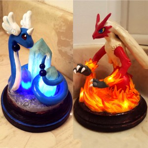 LED Pokemon Sculptures Shut Up And Take My Yen : Anime & Gaming Merchandise