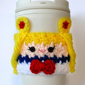 Sailor Moon Crochet Coffee Cup Cozy Shut Up And Take My Yen : Anime & Gaming Merchandise