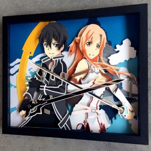 Sword Art Online Shadow box Shut Up And Take My Yen : Anime & Gaming Merchandise