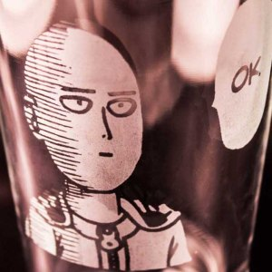 One Punch Man Glass