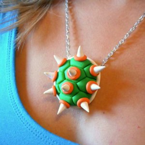 Super Mario Bowser Shell Necklace