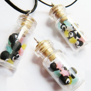 Soot Sprite Bottle Pendant