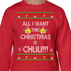 Ugly Pikachu Christmas Sweater