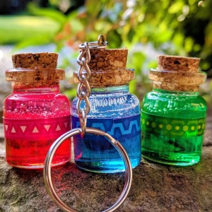 Legend Of Zelda Potion Keychains