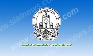 BIEK Karachi Board Inter (HSSC-I) 11th Class Result 2013 Home Economics Group