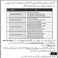 Eligible Candidate List for NTS Test of Educators Jobs in Punjab