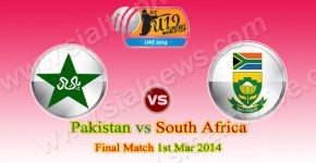Pakistan vs South Africa Final of ICC Under-19 World Cup 2014 Live Streaming