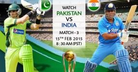 atch Pakistan vs India Wod Cup 2015 Match Live
