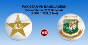 Pakistan vs Bangladesh Cricket Series 2015