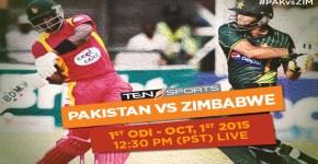 Pak vs Zim 1st ODI Match Live