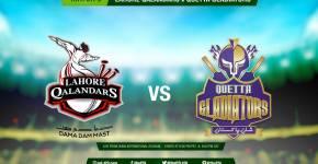 Lahore Qalandars vs Quetta Gladiators 8th T20 Match PSL 2016 Live