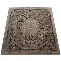 Buy Lotus Wall Art Bed Hanging Panel, Gray Headboard Online