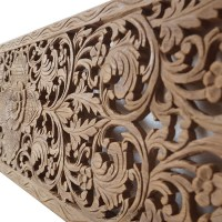 Buy Relief Carved Wooden Wall Art Panel, King Bed ...