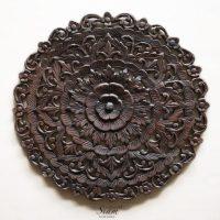 Thai Traditional Lotus Carved Wood Wall Panel - Siam Sawadee