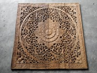 Respectful Floral Wood Plaque Wall Decor, Full Size Bed ...