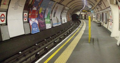 Empty tube platform Kentish Town