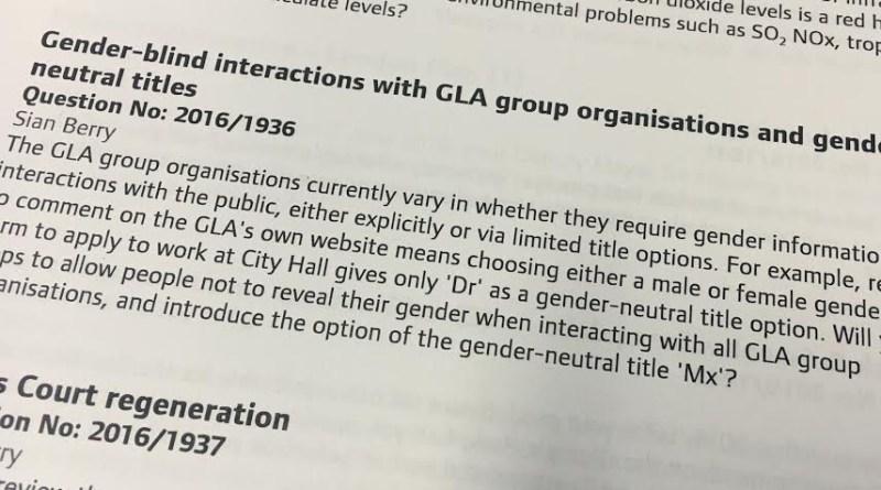 Question on gender-blind forms