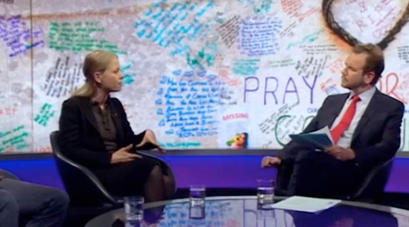 Newsnight discussion on Grenfell support