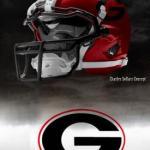 UGA Nike Pro Combat Helmet 2