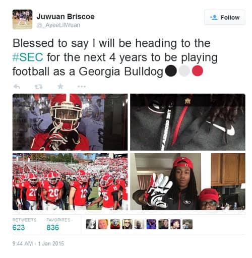 Juwuan Briscoe Tweet