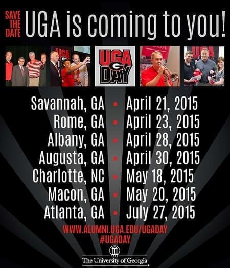 2015 UGA Days Schedule