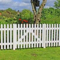 Gartenzaun Holz Skagen, wei 80cm