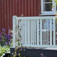 Gartenzaun Holz, Classico wei