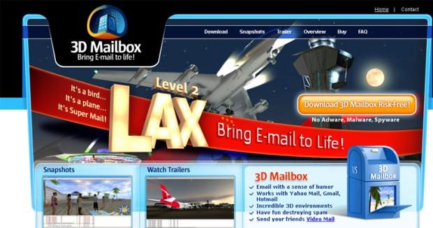 3D Mailbox website