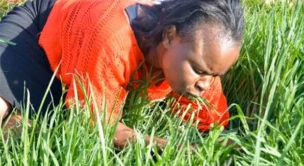 Lesego Daniel - Church - Eating Grass - Woman