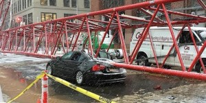 Collapsed Crane New York