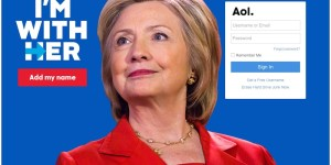 Hillary Clinton AOL Advert