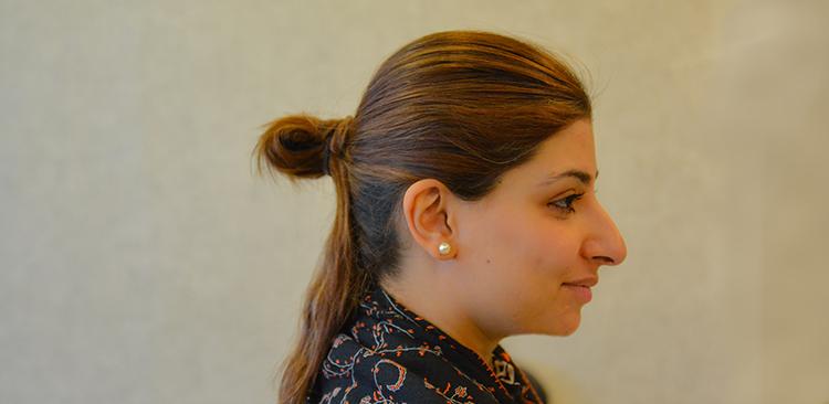 Sana Tariq hair Style 2 title