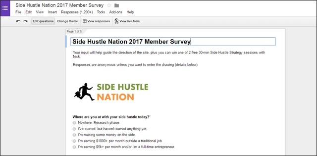 State of Side Hustle Nation 2017 Survey Results and Side Business