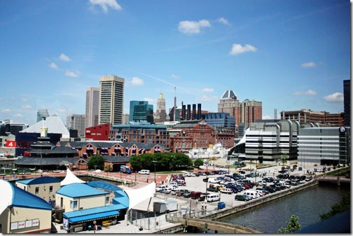 view from marriott at the inner  harbor baltimore
