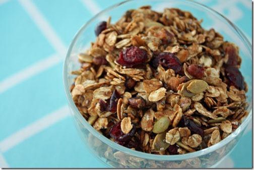cranberry pumpkin seed granola