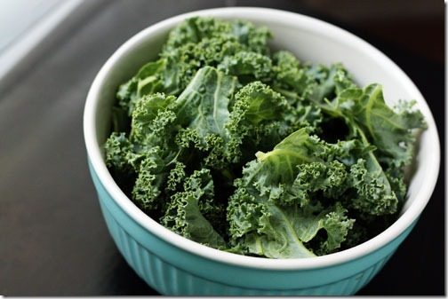 massaged kale chips