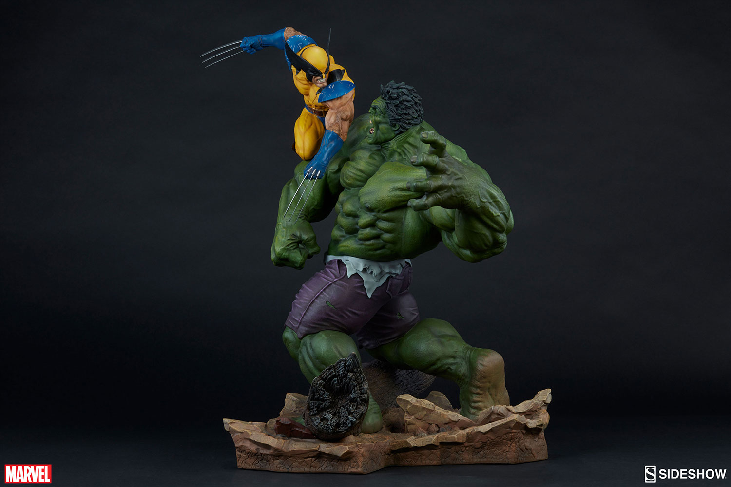 Thor 3d Hd Wallpaper Marvel Hulk And Wolverine Maquette By Sideshow