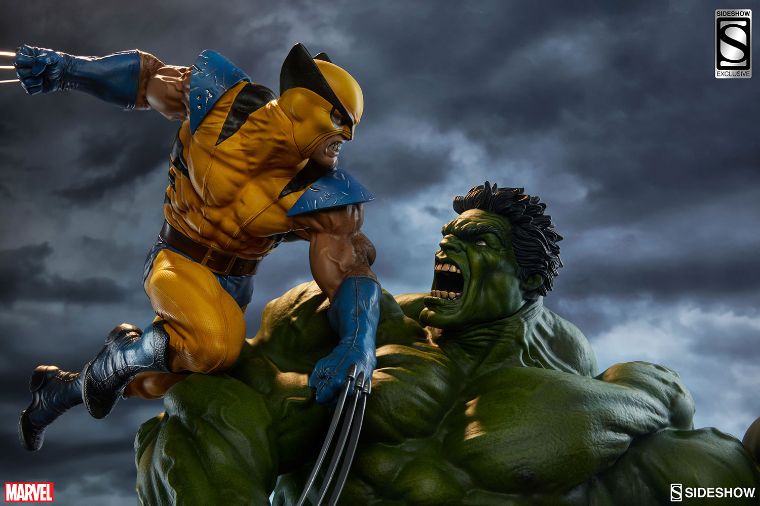 S 3d Wallpaper Hd Marvel Hulk And Wolverine Maquette By Sideshow