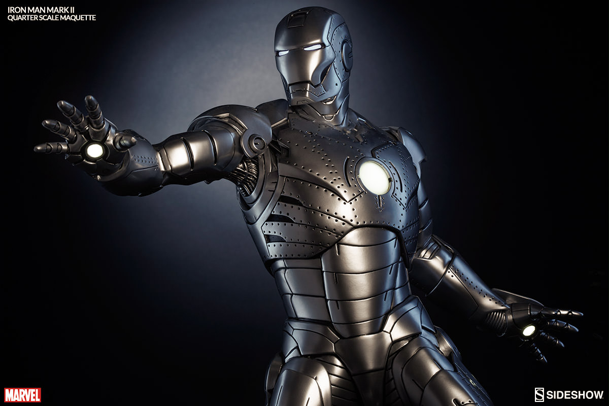 Mk Name Wallpaper Hd Marvel Iron Man Mark Ii Quarter Scale Maquette By Sideshow